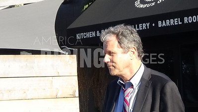 Sherrod Brown At Watershed Distillery Fundraiser In Columbus, OH