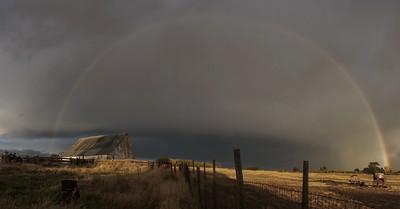 Rainbow Over The Old Barn