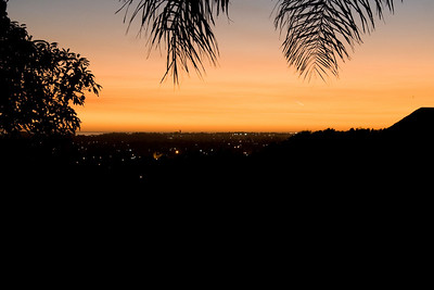 smoky sunset from the backyard