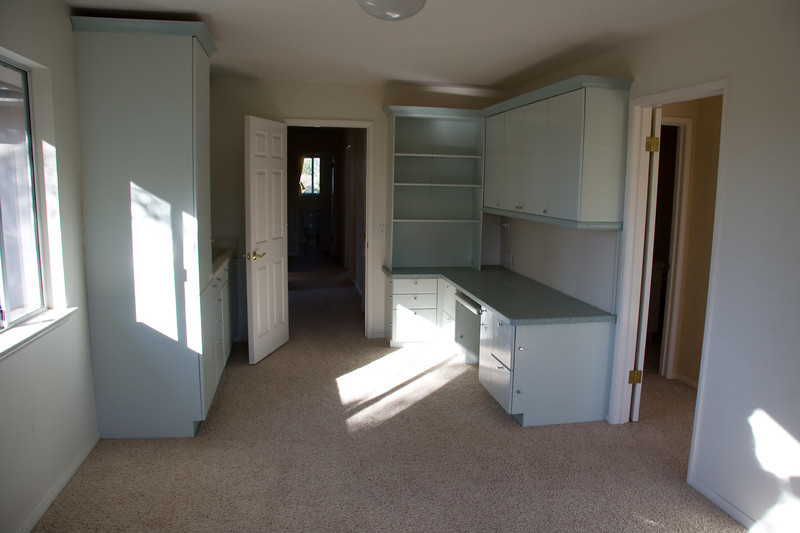 kitchenette and desk built-ins