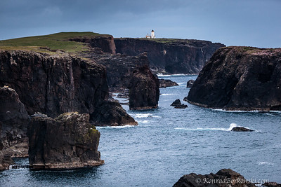 Lighthouse (2) and the cliffs of Eshaness, Shetland