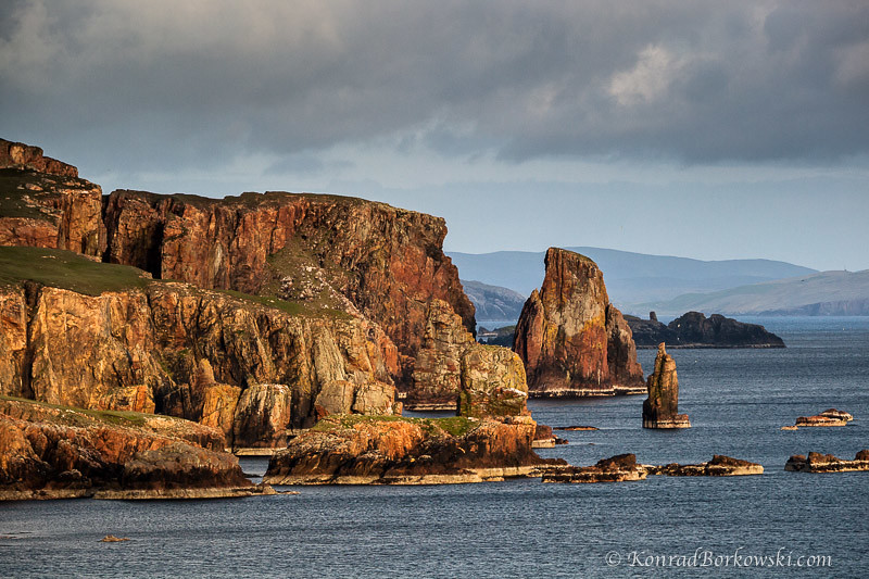 Cliffs and sea stacks of Eshaness, Shetland