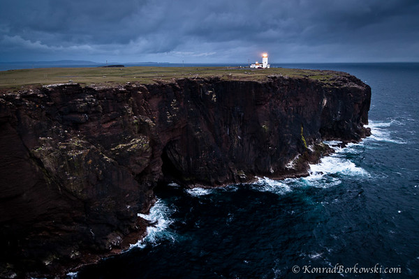 Lighthouse and the cliffs of Eshaness, Shetland