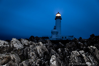 Lighthouse at night (South) Fair Isle, Shetland