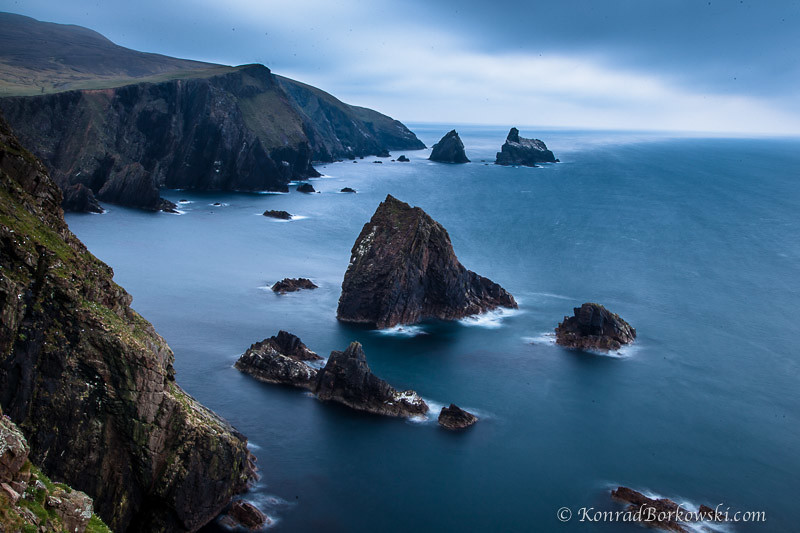 Cliffs and sea stack of Fair Isle, Shetland