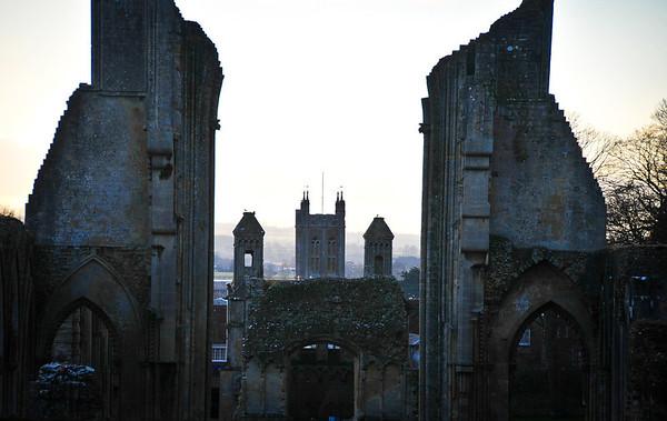 Ruins of the Glastonbury Abbey