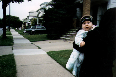 Mother and Child Returning from Ashura Observance (Dearborn, MI)