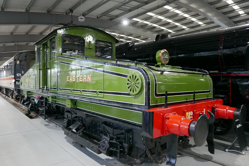 This loco could operate with 3rd rail and overhead wires, at Locomotion, Shildon