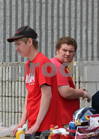 Zach Jessen and Tyler Phillips employees of Hyvee.
