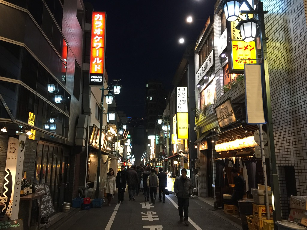 The main street of Shinjuku-San-chome