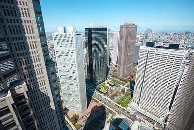 Shinjuku Skyscrapers seen from Tokyo Metropolitan Government Building