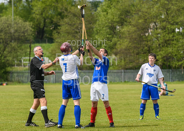 19 May 2018 at Peterson park, Glasgow. Glasgow Celtic Society Cup semi-final match  Glasgow Mid Argyll v Kyles Athletic