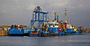 'Forth Guardsman', 'Forth Jouster', and 'Forth Sentinel' in James Watt Dock - 8 March 2014