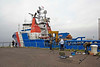 Anglers Clear Their Rods as Kingdom of Fife Enters James Watt Dock - 22 July 2012