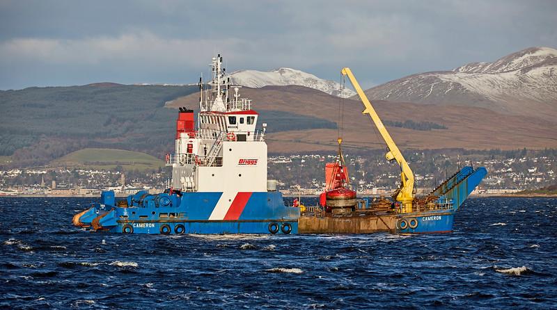 'Cameron' off Port Glasgow - 30 November 2017