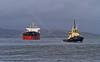 'CMB Sakura' and 'Ayton Cross' Approaching East India Harbour - 6 January 2014