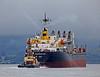 'Bosphorus King' Heading Past the Greenock Ocean Terminal - 6 October 2013
