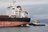 'Tomini Liberty' passing East India Harbour, Greenock - 20 October 2018
