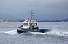 Tug Bruiser - Passing Port Glasgow - 16 November 2012