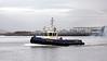 'Bruiser' - Leaving Victoria Harbour in Greenock - 29 January 2013