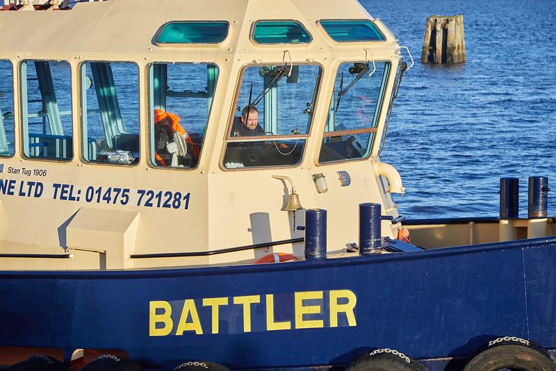 Battler and Bruiser at Garvel Dry Dock - 17 January 2019