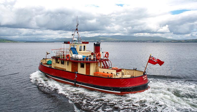 'Kenilworth' Departing James Watt Dock - 1 July 2005