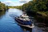 'Beaver Bay' Enroute to Collect Barge - Inchinnan Bascule Bridge - 10 September 2013