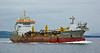 Dredger 'Causeway' Passing Greenock - 25 June 2014