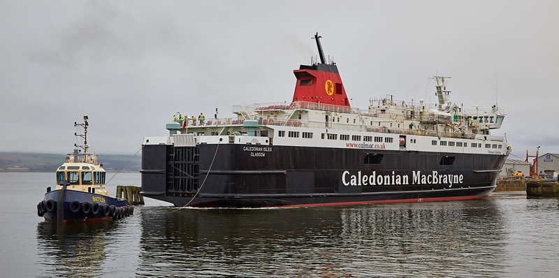 'MV Caledonian Isles' at Garvel Dry Dock - 17 January 2017
