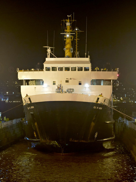 Isle of Arran - Garvel Dry Dock - 5 January 2012
