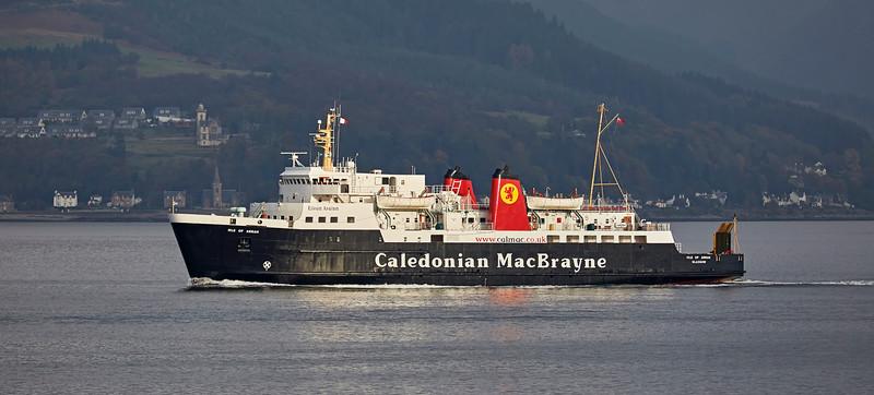 'MV Isle of Arran' off Gourock - 22 October 2016