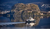 'MV Coruisk' passing Dumbarton Rock - 1 February 20211