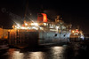 'Caledonian Isles' and Hebridean Princess at Night - Garvel Dry Dock - 5 January 2012