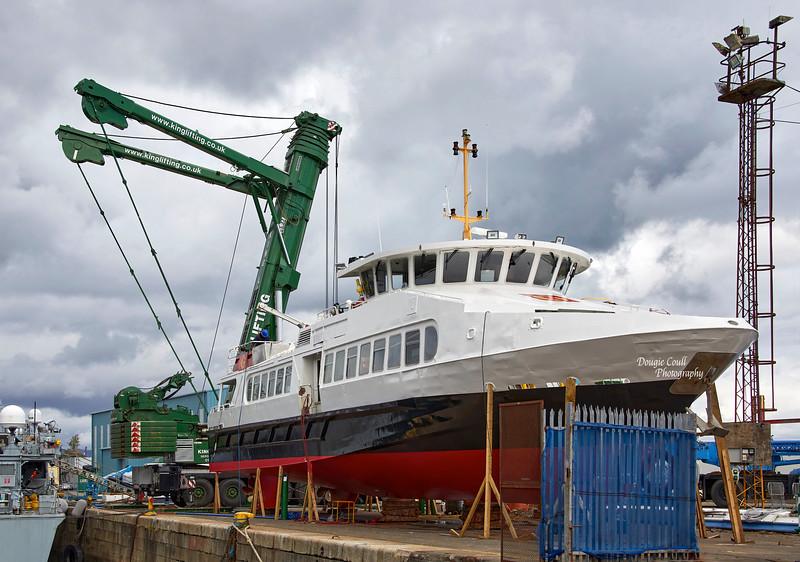 Argyll Flyer at James Watt Dock - 10 May 2021