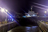 'Isle of Arran' Waiting on Sufficient Deep Water - Garvel Dry Dock - 5 January 2012