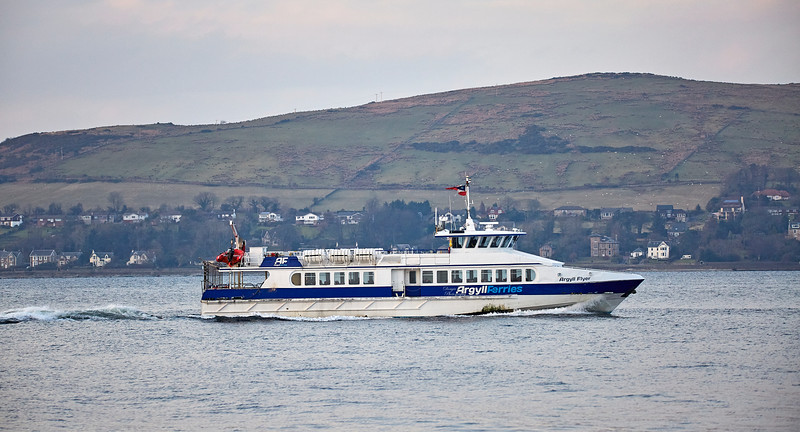 Argyll Flyer at Gourock - 23 February 2018