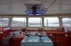 Wheelhouse aboard the 'MV Saturn' at Roseneath - 25 February 2015