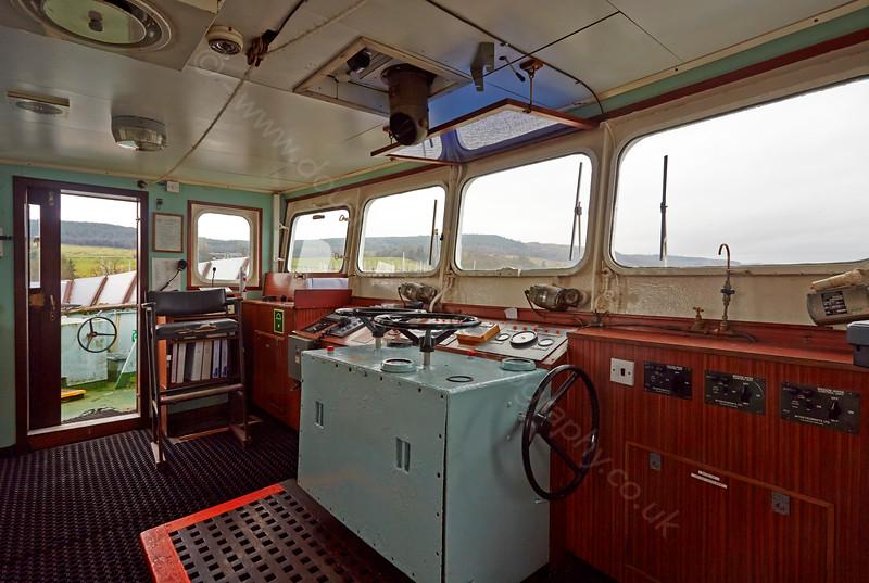 Bridge aboard the 'MV Saturn' at Roseneath - 25 February 2015