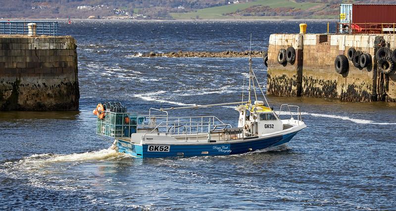 'Nora Ann' at James Watt Dock - 6 April 2021