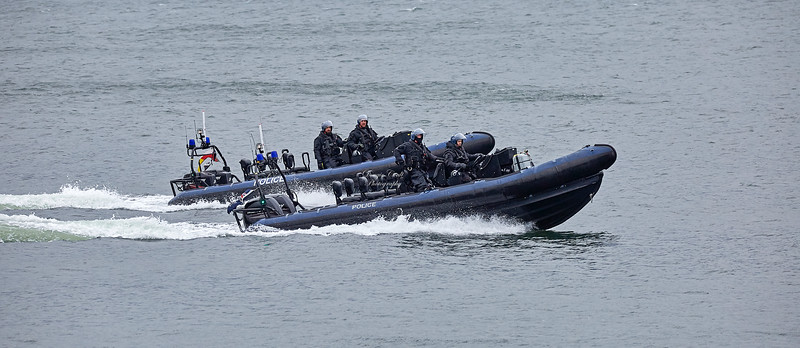 MOD Police RHIBs off Cove - 16 March 2018