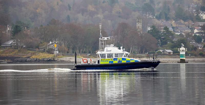 MOD Police Boat 'Skye' off Rhu Spit - 2 December 2018