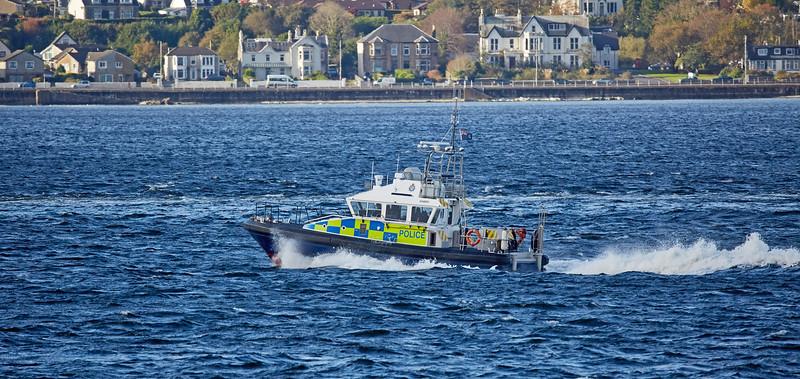 MOD Police Boat 'Harris off Cloch Lighthouse - 22 October 2017