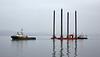 Tug 'Venture' towing Haven Seariser 4 off Greenock - 7 April 201