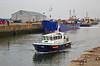 Pilot Cutter 'Toward' departing James Watt Dock - 19 September 2014