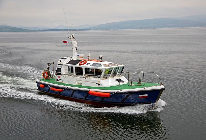 Pilot Cutter 'Toward' arriving at James Watt Dock - 19 September 2014