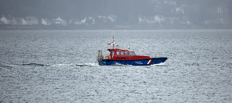 Pilot Cutter 'Skua' off Cloch Point - 13 March 2020