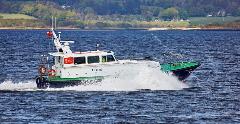 Pilot Cutter 'Gantock' off Greenock Esplanade - 14 May 2015