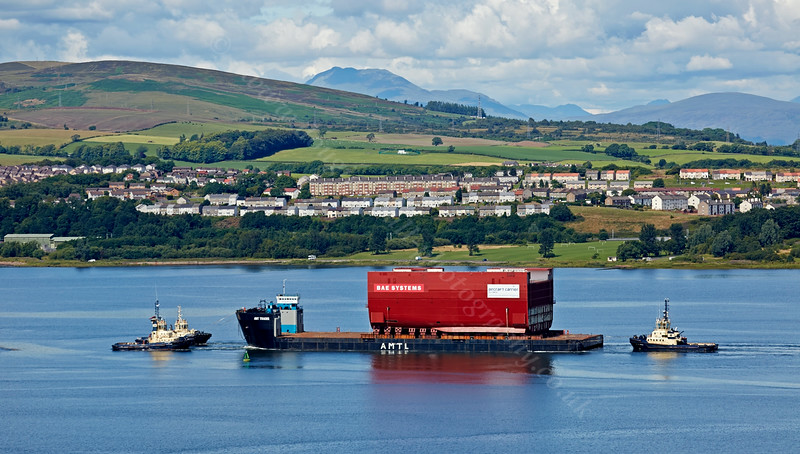 Prince of Wales - Lower Block 03 - Passing Langbank - 28 July 2014