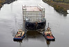 Lower Block 04 Section and Tugs at Erskine Bridge - 4 November 2012