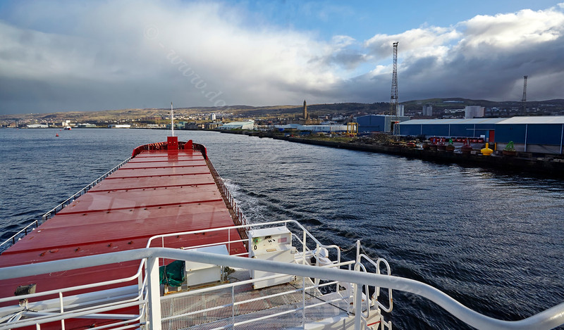 Aboard the 'Medal' passing Greenock on the River Clyde - 8 April 2014
